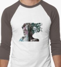 Beneath Broken Earth (street art drawing, woman with leaves and tattoos) T-Shirt