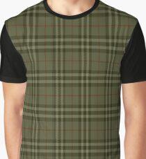 New Year Tartan Khaki Graphic T-Shirt