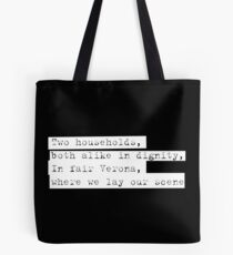 Verona - Romeo & Juliet - Shakespeare  Tote Bag