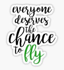 Pegatina todos merecen la oportunidad de volar - malvado