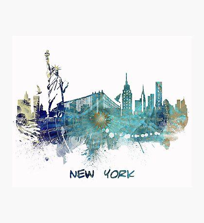 New York City skyline blue Photographic Print