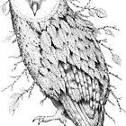 Leaf Barn Owl by Brett Miley