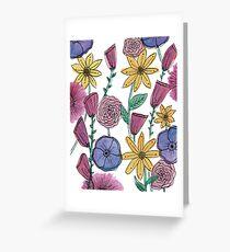 Watercolor Flower Garden Greeting Card
