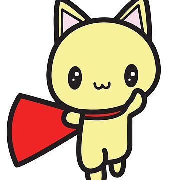 Super Hero Cat by TeeGrayWolf