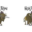 Higgs Bison Drinkware by CS Jennings
