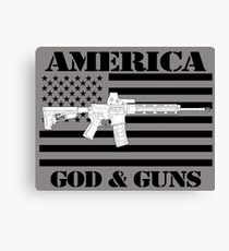God and Guns  Canvas Print
