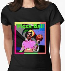 Pizza Ball ERIC ANDRE Women's Fitted T-Shirt