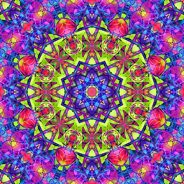kaleidoscope Floral Abstract  by Medusa81