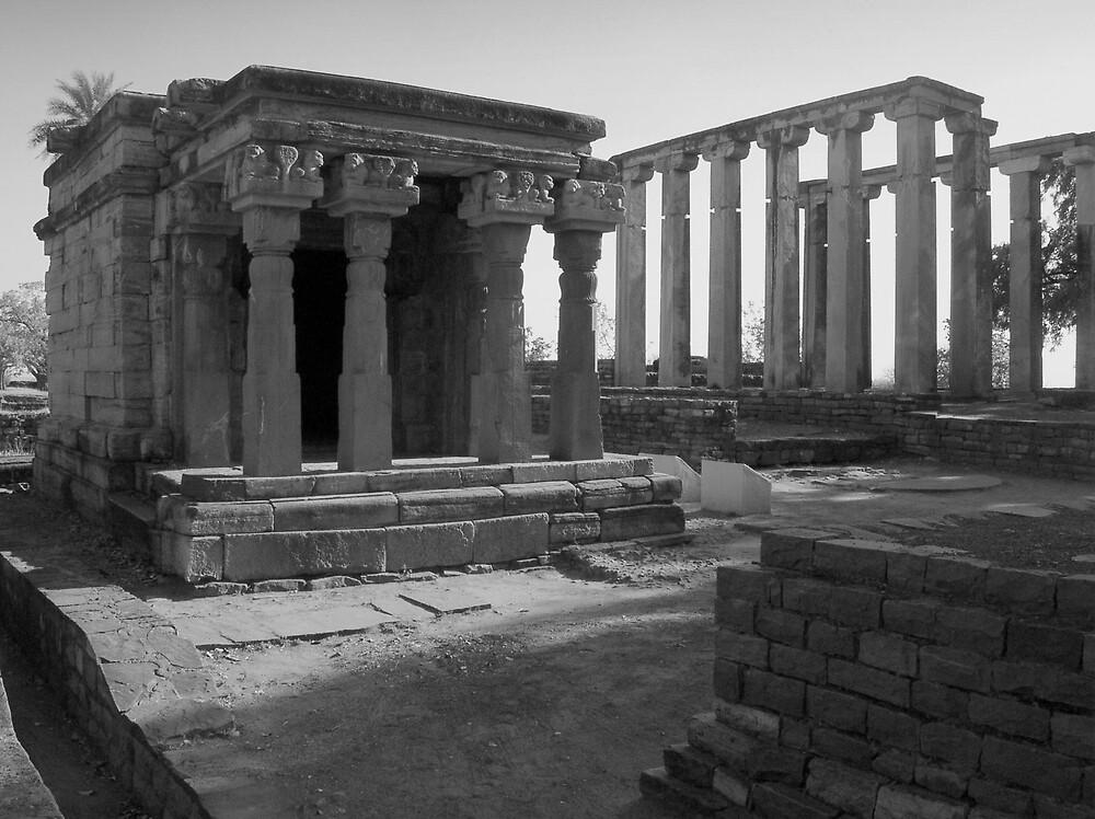 The ruins of Sanchi monastery by nisheedhi
