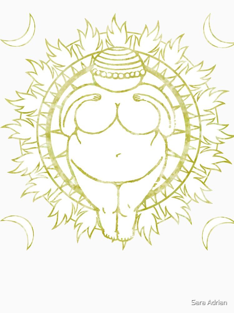 Venus of Willendorf Gold Mandala by saraadrian