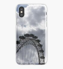 Color Coordinated Skyward View - the London Eye Against Dramatic Sky iPhone Case/Skin