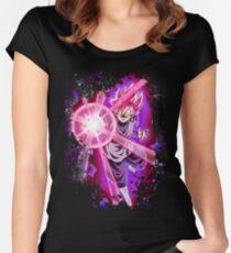 Goku super hero Women's Fitted Scoop T-Shirt