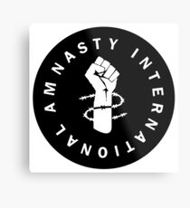 AM NASTY INTERNATIONAL - BLACK Metal Print