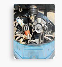 1960 VW Beetle Engine as Art Metal Print