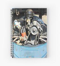 1960 VW Beetle Engine as Art Spiral Notebook