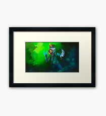 Ditto Dark Encounter Framed Print