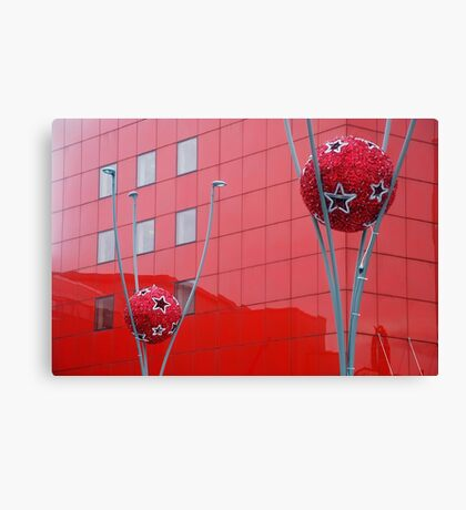 Composition in red Canvas Print