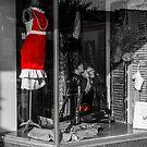 Red Dress in Window by Rodney Lee Williams