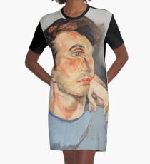 Handsome Cyclops Graphic T-Shirt Dress
