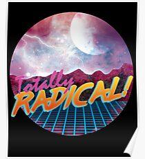 Totally Rad Eighties 80s Space Rock Metal  Poster