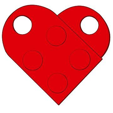 Two Blocks, One Heart by mochipanda