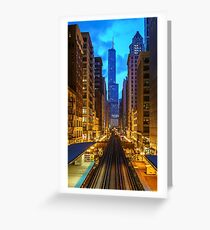Looking Down the Tracks in Chicago Greeting Card