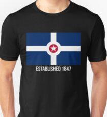 Indianapolis Flag Established 1847 T-Shirt