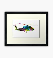 Colorful Helicopter Framed Print