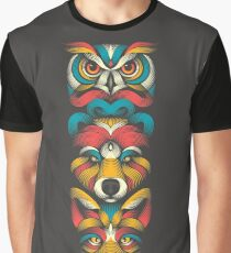 Forest Animals Totem Graphic T-Shirt