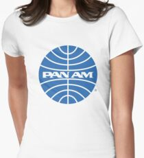 Pan Am Tshirt - Defunct Airline Company Logo - Airline Memorabilia - Retro Company Logo - Retro Tshirt Women's Fitted T-Shirt