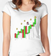 Super Crypto World Women's Fitted Scoop T-Shirt