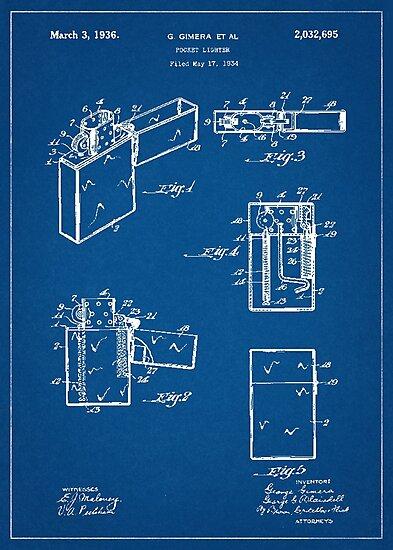 Lminas fotogrficas 1936 zippo lighter patent drawing blueprint 1936 zippo lighter patent drawing blueprint malvernweather Images