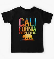 Vivid California Republic Bear  Kids Tee