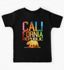 Vivid California Republic Bär Kinder T-Shirt