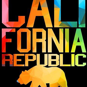 Vivid California Republic Bear  by robotface