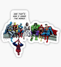 That's How I Saved The World Jesus Superheros Christian T-Shirt Sticker