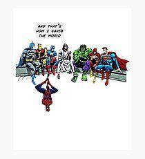 That's How I Saved The World Jesus Superheros Christian T-Shirt Photographic Print