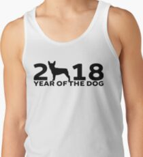 Boston Terrier 2018 Year of the Dog Tank Top