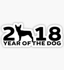 Boston Terrier 2018 Year of the Dog Sticker