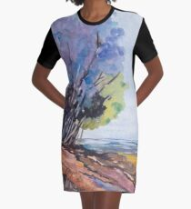 For the Tree-lovers Graphic T-Shirt Dress