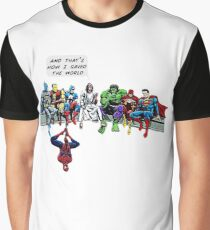 That's How I Saved The World Jesus Superheros Christian T-Shirt Graphic T-Shirt
