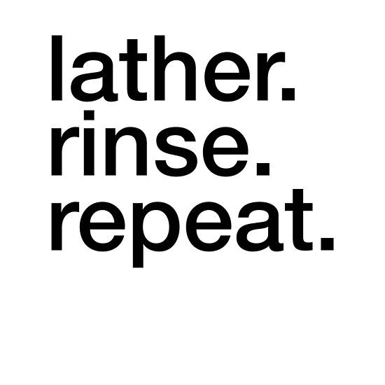 Lather Rinse Repeat - Cool Hair Sticker T-Shirt Pillow by TheTeeMachine
