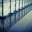Penarth Pier reflection by Anita Harris