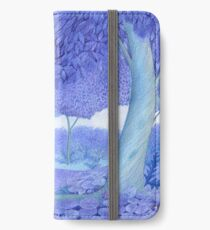 little mouse in a mysterious blue forest iPhone Wallet/Case/Skin