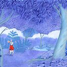little mouse in a mysterious blue forest by EllenLambrichts