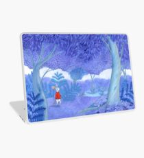 little mouse in a mysterious blue forest Laptop Skin
