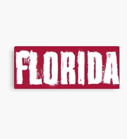 Florida Explosive Typography Canvas Print