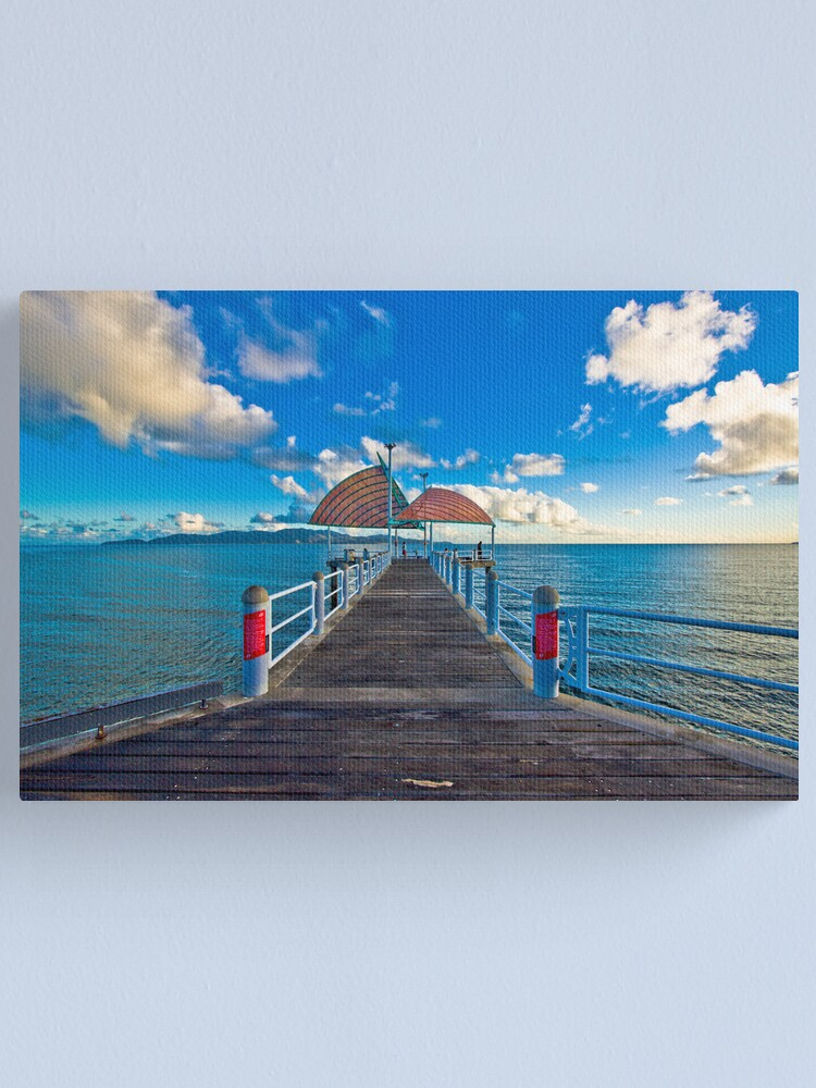 Alternate view of The Strand Jetty Townsville.  Canvas Print