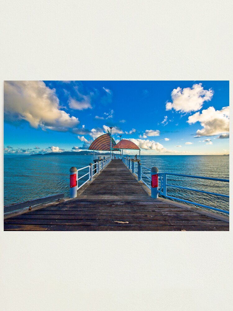 Alternate view of The Strand Jetty Townsville.  Photographic Print