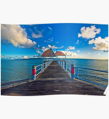 The Strand Jetty Townsville.  Poster